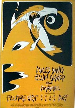 Fillmore West May 1970 concert poster