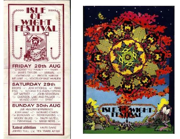 Isle of Wight concert poster