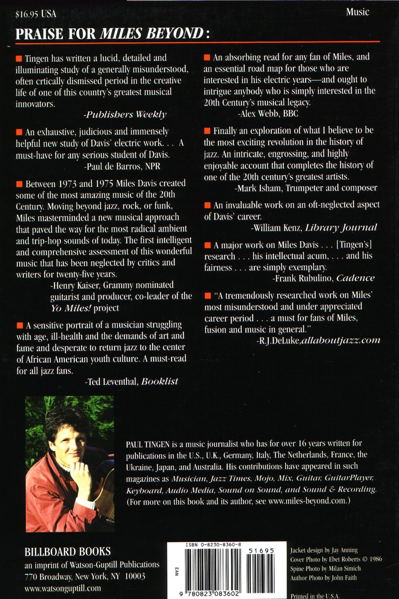 Miles Beyond back cover