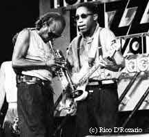 Miles and Darryl Jones in 1985