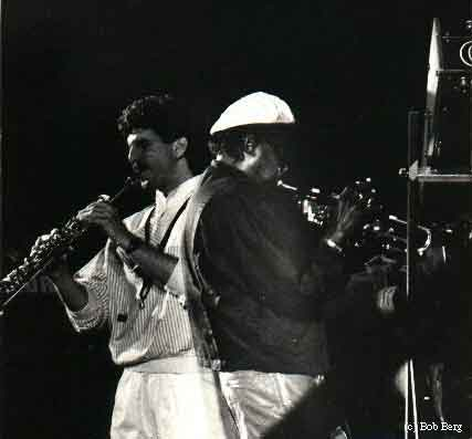 Bob Berg and Miles in 1984