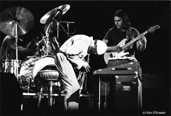 Al Foster, Miles, and Mike Stern in 1982.