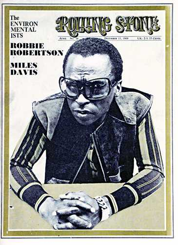 Miles on the cover of Rolling Stone, December 13, 1969